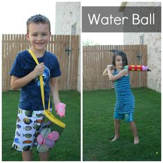 cool off with a refreshing game of water ball! Fun for the whole family #backyardfun #campsunnypatch