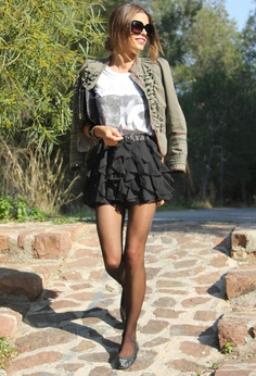 Kind of ballerina skirt #fashion #style #outfit #look , H&M Kids in Skirts, Zara in Jackets, Zara in T Shirts