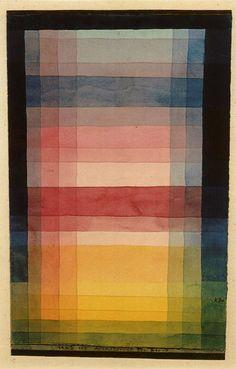 Paul Klee color study. Creo qe encontre uno de mis artistas favoritos, entre veladuras me vere...