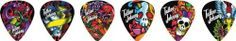 Clayton Tattoo Johnny Snakes and Daggers Guitar Picks - 1 Dozen Medium by Clayton. $4.99. These colorful Clayton picks feature vibrant, tattoo-style imagery by Tattoo Johnny that is sure to impress. Printed on acetal plastic for maximum performance, these picks produce an unbelievable sound. Packaged in a 12-pack of standard, medium-gauge picks.