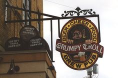 Grumpy Troll Brew Pub (ate supper here)-Mount Horeb, WI -Troll Capitol of the World Aug 2015