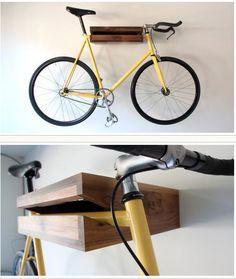 Putting bikes on walls