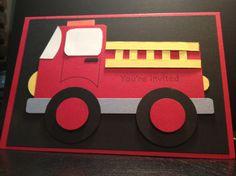 Fire Truck Invitations