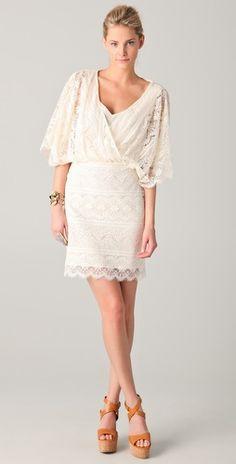 Beyond Vintage - V Neck Lace Dress