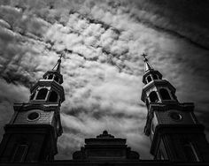 8x10 Black and White Print Exterior Of A Church's by PelliculArt