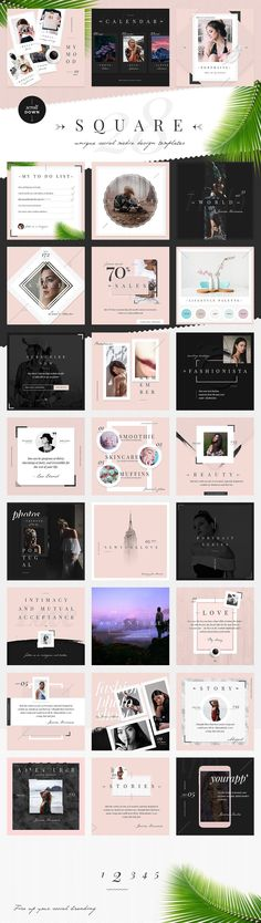 Venice: Elegant Social Media Designs by NordWood on @creativemarket #ad