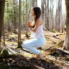 Outdoor yoga.