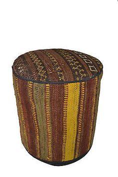Rug Pouf / Rug Sitting Stool / Rug Ottoman / Kilim Sitting Stool / Stools # 5