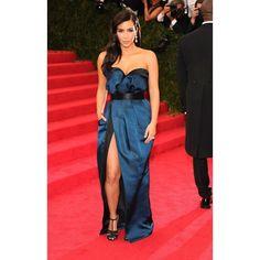 Met Gala 2014 Fashion, Kim Kardashian in Lanvin found on Polyvore