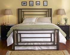 metal bedroom furniture sunset iron bed by wesley allen rpoybpv - Decorating ideas Murphy Bed Ikea, Murphy Bed Plans, Cama Design, Bed Design, Iron Furniture, Bedroom Furniture, Cheap Furniture, Trundle Bed Frame, Wrought Iron Beds