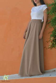 Mocha Skirt, Chiffon Skirt, Long Skirt, Women Skirt, Beige Skirt, Boho skirt, Prom Skirt, Skirts for women, Flower Girl, Wedding Party Skirt Long Chiffon Skirt, Beige Skirt, Bohemian Skirt, Brown Skirts, Party Skirt, Summer Skirts, Purple Yellow, White Tops, Blouses For Women