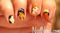 Disney Princess nail art/designs