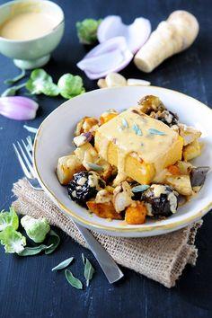 DeLallo.com Winter Recipes: Pumpkin Sage Polenta with Roasted Vegetables