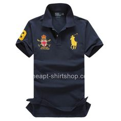 Ralph Lauren Mens Classic-Fit Big Pony Polo Navy Shirt Polo Shirt Brands,  Polo 869f9381f2c