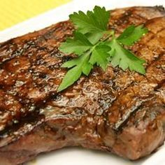 Steaks and Chops: Sir­loin Steak with Garlic Butter