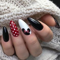 Disney Nail Designs, White Nail Designs, Nail Designs Spring, Acrylic Nail Designs, Nail Art Designs, Nails Design, Gel Designs, Spring Nail Art, Spring Nails