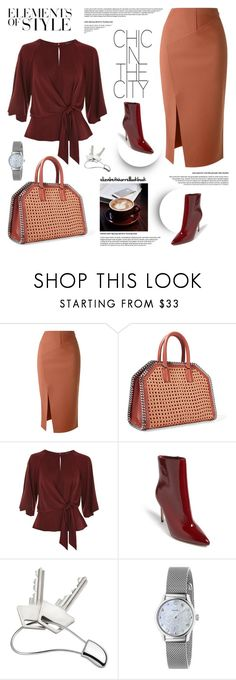 """Styled by Liz"" by elizabethhorrell ❤ liked on Polyvore featuring Scanlan Theodore, STELLA McCARTNEY, Topshop, Forever 21, Vera Wang, Georg Jensen and Gucci"