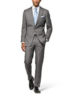 Custom Grey Wool Suit | Spring Wedding looks for Men from J. Hilburn
