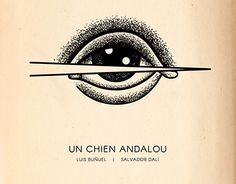"""A poster designed for the 1929 surrealist silent film """"Un Chien Andalou"""" by Luis Buñuel and Salvador Dali Film Poster, Movie Posters, Luis Bunuel, Silent Film, Chen, I Tattoo, Minimal, Typography, Behance"""
