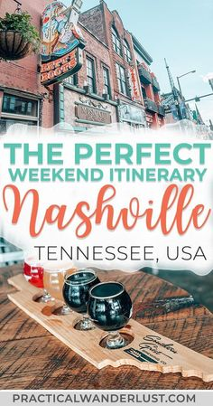 The perfect weekend itinerary to Nashville Tennessee. Where to eat and drink what to do street art attractions the Grand Ole Opry and more. Visit one of the coolest destinations in the USA and eat your way through Music City! Nashville Tennessee, Weekend In Nashville, Nashville Vacation, Visit Nashville, Tennessee Vacation, Nashville Quotes, Best Hotels In Nashville, Nashville Tourist Attractions, Nashville Must Do