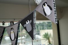penguin baby shower theme | Handmade penguin bunting, a treasure for the nursery made by Jennie ...