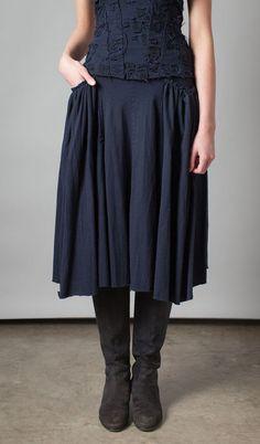 Short Gathered Pocket Skirt