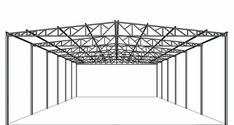 Steel Structure Buildings, Roof Structure, Steel Metal, Metal Roof, Lighting Truss, Roof Truss Design, Poultry House, Carport Designs, Shipping Container House Plans