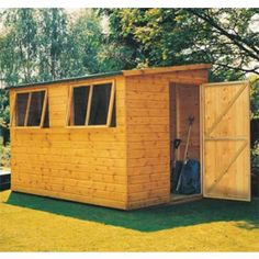 goodwood norfolk professional tongue and groove pent shed 8 x 6 - Garden Sheds 10 X 6