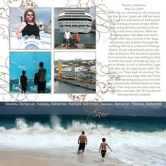 cruise scrapbooking layouts | scrapbook layout - cruise, vacation