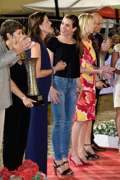 beautiful charlotte:  Award Ceremony, Longines Global Champions Tour of Monaco, June 25, 2015-Charlotte Casiraghi and her mother Princess Caroline