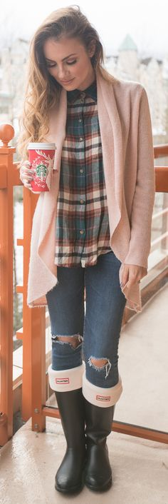 I'm wearing a Button-up Shirt, a Cardigan with Ankle Jeans and boots. I love this outfit for winter season. Angela Lanter - Hello Gorgeous