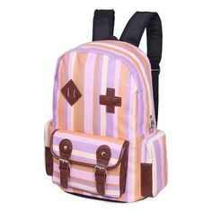 Large female backpack girls laptop bag backpack preppy style stripe student school bag-inBackpacks from Luggage    #girls #backpacks #fashion www.loveitsomuch.com