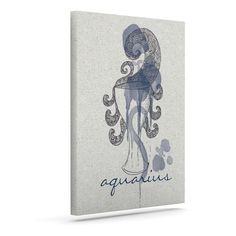 "Belinda Gillies ""Aquarius"" Outdoor Canvas Wall Art"