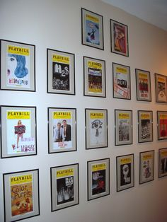 Display your collection of playbills