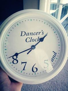 Dancers clock- love!! What a fun gift for a dance teacher!