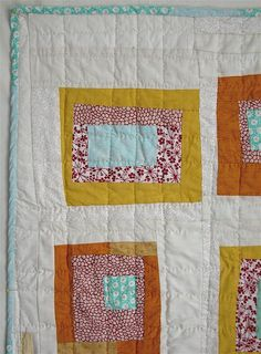 IDEA #3: modern explorer quilt {example of wonky uneven boxes with lots of white around them}