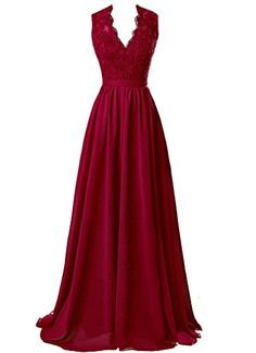 Cheap formal party dress, Buy Quality chiffon high neck dress directly from China deep v chiffon dresses Suppliers: Evening Dresses New Arrival Deep V neck Burgundy Green Lace Chiffon Open Back Elegant 2017 High Quality Formal Party Dresses Mob Dresses, Cheap Prom Dresses, Bridesmaid Dresses, Formal Dresses, Party Dresses, Bridesmaids, Wedding Dresses, Red Lace Prom Dress, Chiffon Dress