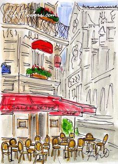 #Paris Salon de Thé by Fifi Flowers