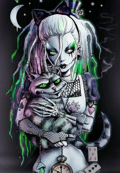53 best Ideas for alice in wonderland dark art fantasy Arte Zombie, Zombie Art, Dark Disney, Disney Art, Arte Horror, Horror Art, Goth Art, Diamond Art, Skull Art