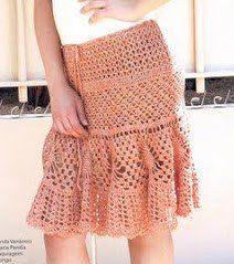 Pastel Pink Skirt free crochet graph pattern