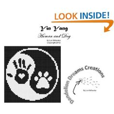Yin Yang Human/Dog Counted Cross Stitch Pattern
