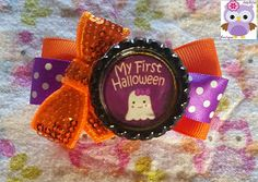 Gypsy Spoonful Marketplace: Gypsy Spoonful My First Halloween Bow by AddyBelle...