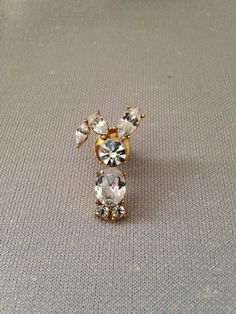 Cute unsigned gold tone lapel pin, tie tack with rhinestones in a rabbit design! Lapel Pins, Tack, Brooch Pin, Rhinestones, Rabbit, Cute, Gold, Ebay, Jewelry