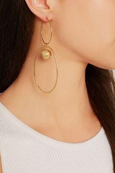 Stella McCartney | Gold-plated earrings