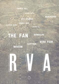 HOME <3.......This typography and view of Richmond, VA is awesome. Acoustical Solutions, Inc. loves #RVA!