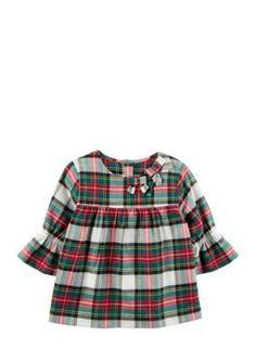 Carter's Plaid Ruffle Top Girls Toddler - Multi - 2T