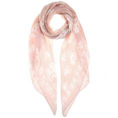 Alexander McQueen - Printed silk scarf - seen @ www.mytheresa.com