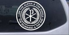 Chi Rho Monogram Alpha And Omega Car or Truck Window Decal Sticker - Rad Dezigns