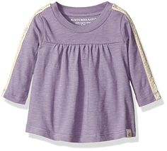Burts Bees Baby Girls Organic Crochet Sleeve Tee Lilac 24 Months >>> For more information, visit image link.