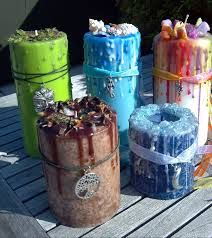 making pillar candle with herbs - Google Search